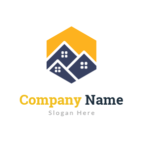 Yellow and Blue Special House logo design