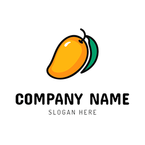 Yellow and Orange Mango Icon logo design