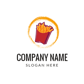 Yellow and Red Chips logo design