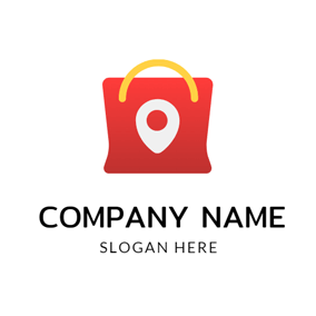 Yellow and Red Handbag logo design