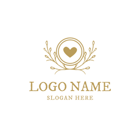 Yellow Circle and Decoration logo design