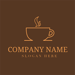 Yellow Hot Coffee and Good Morning logo design