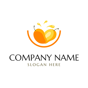 Yellow Mango and Juice logo design