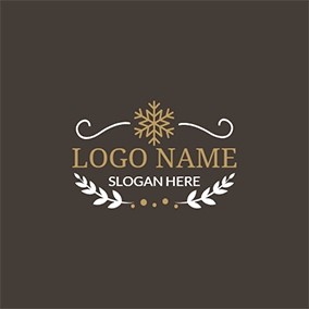 Yellow Snowflake and White Branch logo design