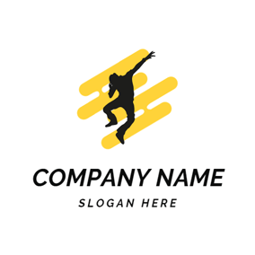 Yellow Stripe and Hip Hop logo design